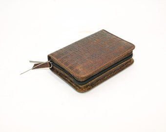 Pocket Bible Cover Jehovah's Witness - Brown Alligator New World Translation - Limited Edition