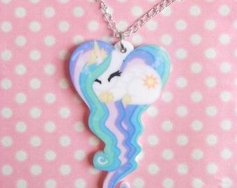 Princess Celestia My Little Pony Friendship Is Magic sleeping heart necklace