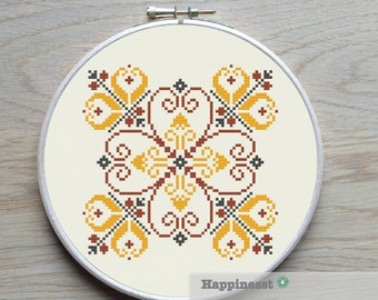modern cross stitch pattern, geometric potugese ornament, PDF ** instant download**