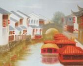 "Original Pastel drawing ""Landscape"""