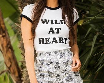 Wild at Heart Ringer Tee