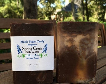 Maple Sugar Candy Cold Process Gentle Soap for Sensitive Skin
