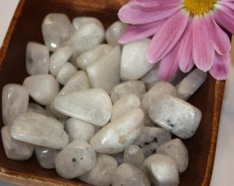 Tumbled Rainbow Moonstone, Reiki Infused, Metaphysical,