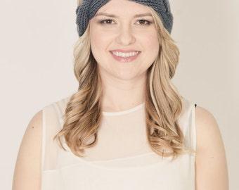 Calm braided  knitted headband head wrap turban