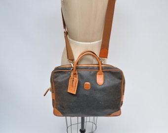 vintage leather satchel bag handbag BRIC'S briefcase purse tote messenger bag laptop brics