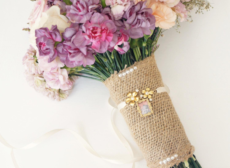 Bridal Bouquet Locket Charm : Gold bouquet locket photo charm wedding