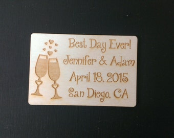 Wedding Favor, Magnets - Bride, Groom, Gift, Save the Date