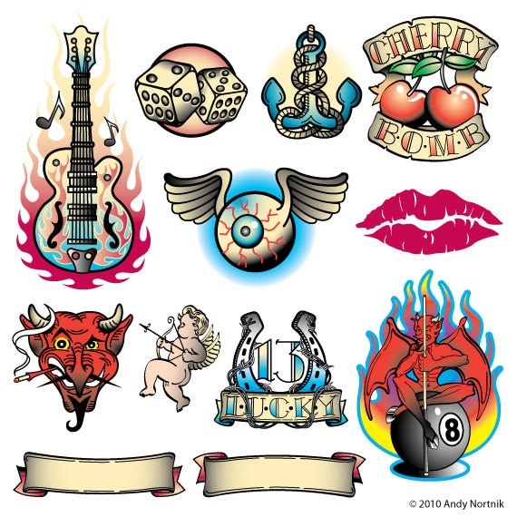 Tattoo Designs Clipart: Tattoo Clip Art Clipart Personal Or Commercial Use Royalty