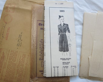 40s Mail Order Dress Pattern 38 bust