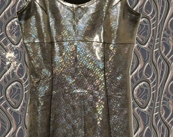 90s holographic stretchy dress size S