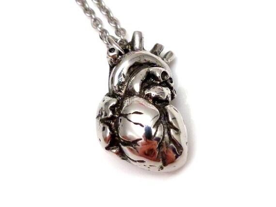 3D Anatomical Heart Necklace Human Anatomy Pendant By Farjil