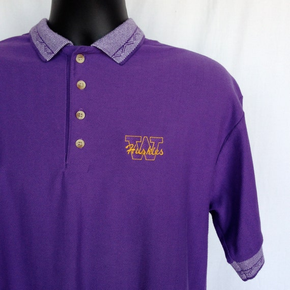 vintage university of washington huskies polo shirt