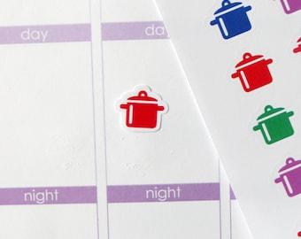 54 Crockpot/Meal Stickers for Erin Condren Planner, Filofax, Plum Paper
