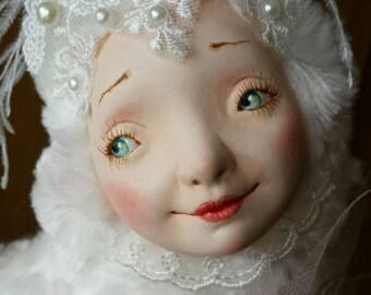Miracle Bird art doll OOAK - Handmade doll