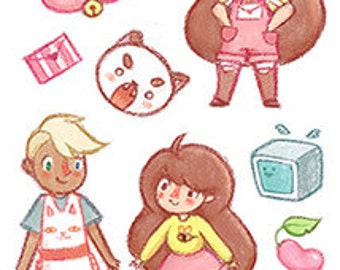 Bee & Puppycat Pre-Cut Stickers | Doctor Who Pre-Cut Stickers (A6 sheet)