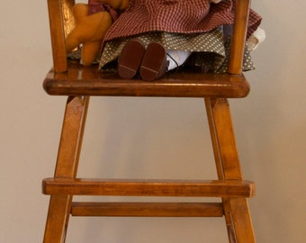 Wood Doll's High Chair