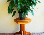 Rustic cedar pedestal table or pedestal side table - use as indoor plant stands / outdoor plant stands / tall plant stands / plant pedestals
