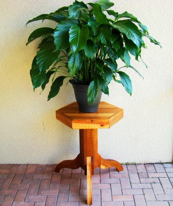 items similar to rustic cedar pedestal table or pedestal side table use as indoor plant stands. Black Bedroom Furniture Sets. Home Design Ideas