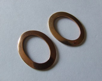 Vintage Oval Jewellery Frames For 24x14mm Setting, Plain Copper X 10 Pieces