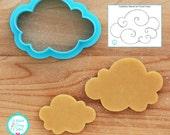 Cloud Cookie Cutter and Fondant Cutter