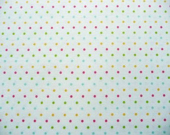 Small Dot Fabric, Riley Blake C600-11 Swiss Dot Multi, Tiny Dot Quilt Fabric, Dotted Cotton Fabric, Polka Dot Fabric, Dot Fabric for Girls