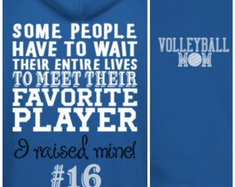 Volleyball Mom Hoodie Proud Volleyball Mom Favorite player Hooded sweatshirt