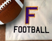 F is for Football Applique Embroidery Design
