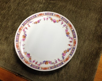 "Sample Plate made in Germany, 8"" Plate, Decorative Plate, Sample Plate, Luncheon Plate 8"", Garland decorative plate, Germany"