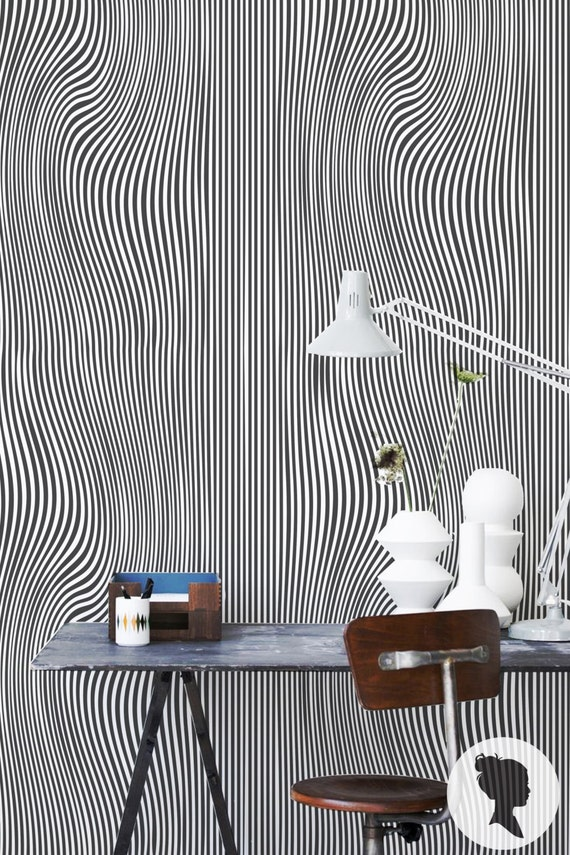Psychedelic Illusion Wallpaper Self Adhesive Or Traditional