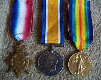 British First World War Group of three medals - awarded to Lance Corporal, Royal Engineers.