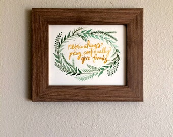 original 8x10 watercolored scripture art - ready to frame