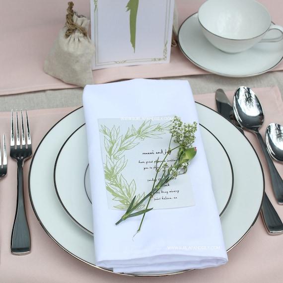 how to make cloth napkins for a wedding
