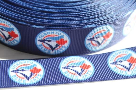 Basket Weaving Supplies Charleston Sc : Blue jays baseball inch grosgrain ribbon by the yard