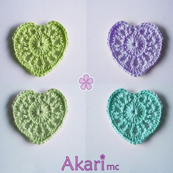 Crochet Heart Patterns For Beginners : Easy crochet heart PDF Pattern. Beginner level. Cheap crochet