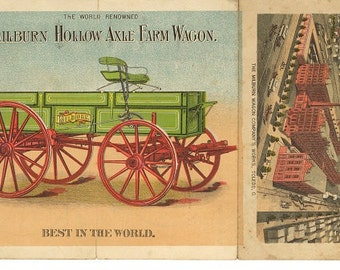 milburn hollow axel farm wagon and  moline plow co. advertising download