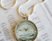 "St John Apostle Pendant with 20"" Sterling Silver Chain - 28mm"