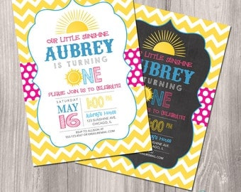 Sunshine Birthday Invitation, Sunshine Invite, Sun Invitation, You are my sunshine invitation, Summer Birthday Invitation, Printable Digital