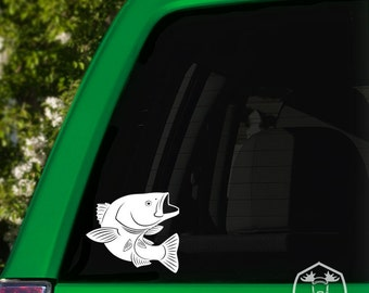 Leaping Bass Car Window Decal