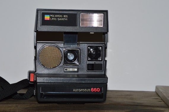 polaroid auto focus 660 sonar autofocus 1980s instant land. Black Bedroom Furniture Sets. Home Design Ideas