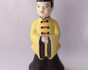 Chinese Man Figurine -Made in Occupied Japan