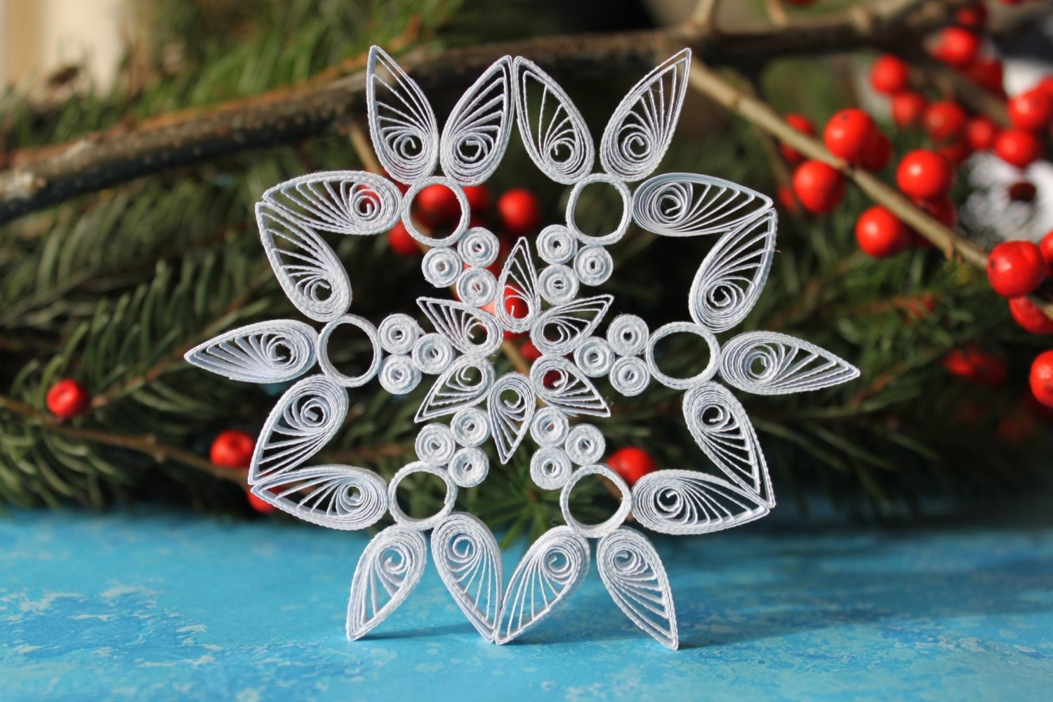 meribel snowflake paper quilled ornament christmas. Black Bedroom Furniture Sets. Home Design Ideas