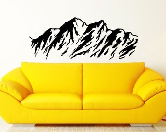 Nature Mountains Wall Decal Sticker mountain decal nature stickers nature wall decal mountain sticker nature wall mural mountain wall mural