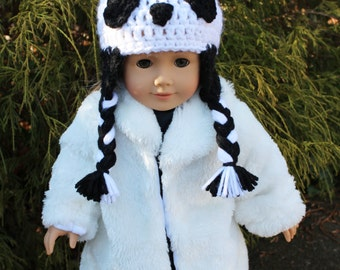 Panda Bear Animal Doll Hat for an American Girl Doll 18 inch Doll Bitty Baby Doll Character Hat