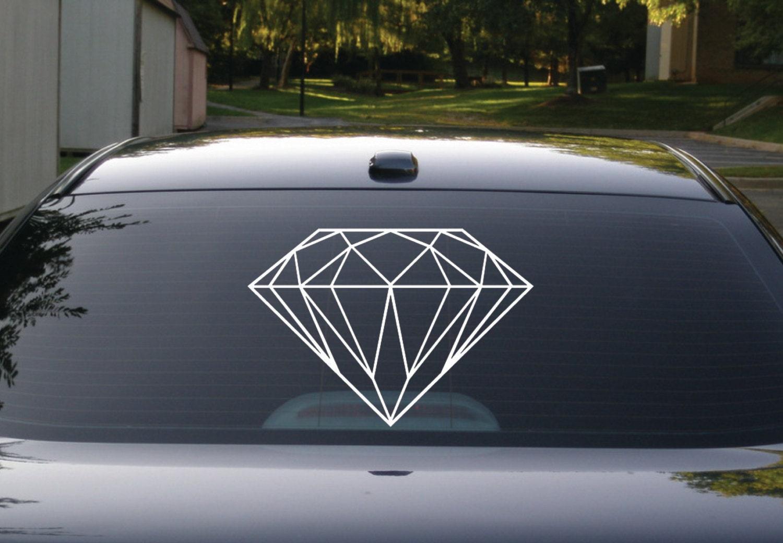 Diamond Decal Diamond Sticker Diamond Bling Decal Car - Custom car bling decals