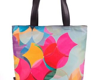 Beach Tote Bag, Colorful Bag, Fashion Tote Bag, Summer Tote Bag, Surface Pro 3 Bag, Large Leather Bag, Red Tote Bag, Stylish Tote Girls Bag