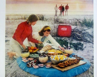 1959 Coca Cola Coke Vintage Advertisement Kitchen Wall Art Restaurant Diner Decor Original Magazine Print Ad Paper Ephemera