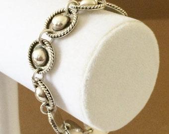 "Sterling Silver Toggle Bracelet 8""-  Great For Larger Wrist"