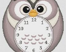 "Cross stitch pattern ""Clock Owl"""