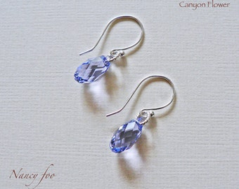 Lavender - Swarovski Crystal earrings
