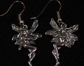 Fairy -  Sterling Silver Dangle Earrings